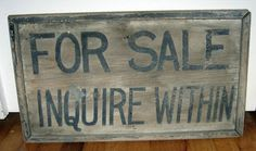 Old For Sale Sign